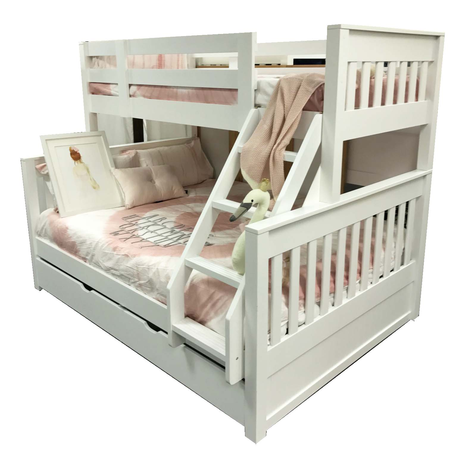 Riley Single Over Double Bunk Inc Trundle In Stock Ready