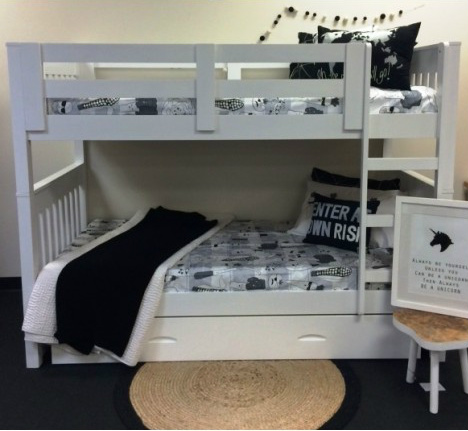 Riley King Single Bunk Inc Trundle In Stock Ready To Ship Out