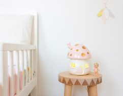 kids lighting Adelaide – mushroom lamp – litle belle – out of the cot gold 2