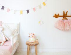 kids lighting Adelaide – mushroom lamp – little belle – out of the cot gold