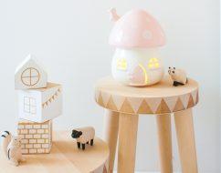 kids lighting adelaide – mushroom light – little belle – out of the cot