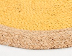 ATRIUM ROUND JUTE NATURAL RUG YELLOW_kids rugs adelaide_out of the cot_2