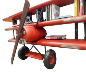 Red Baron EX Large Wall Hang Book Shelf