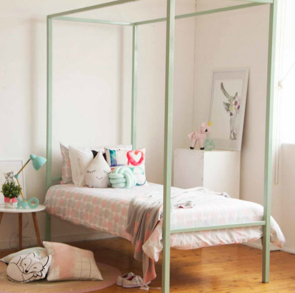Olivia Four Poster 16 Colour Options Out Of The Cot