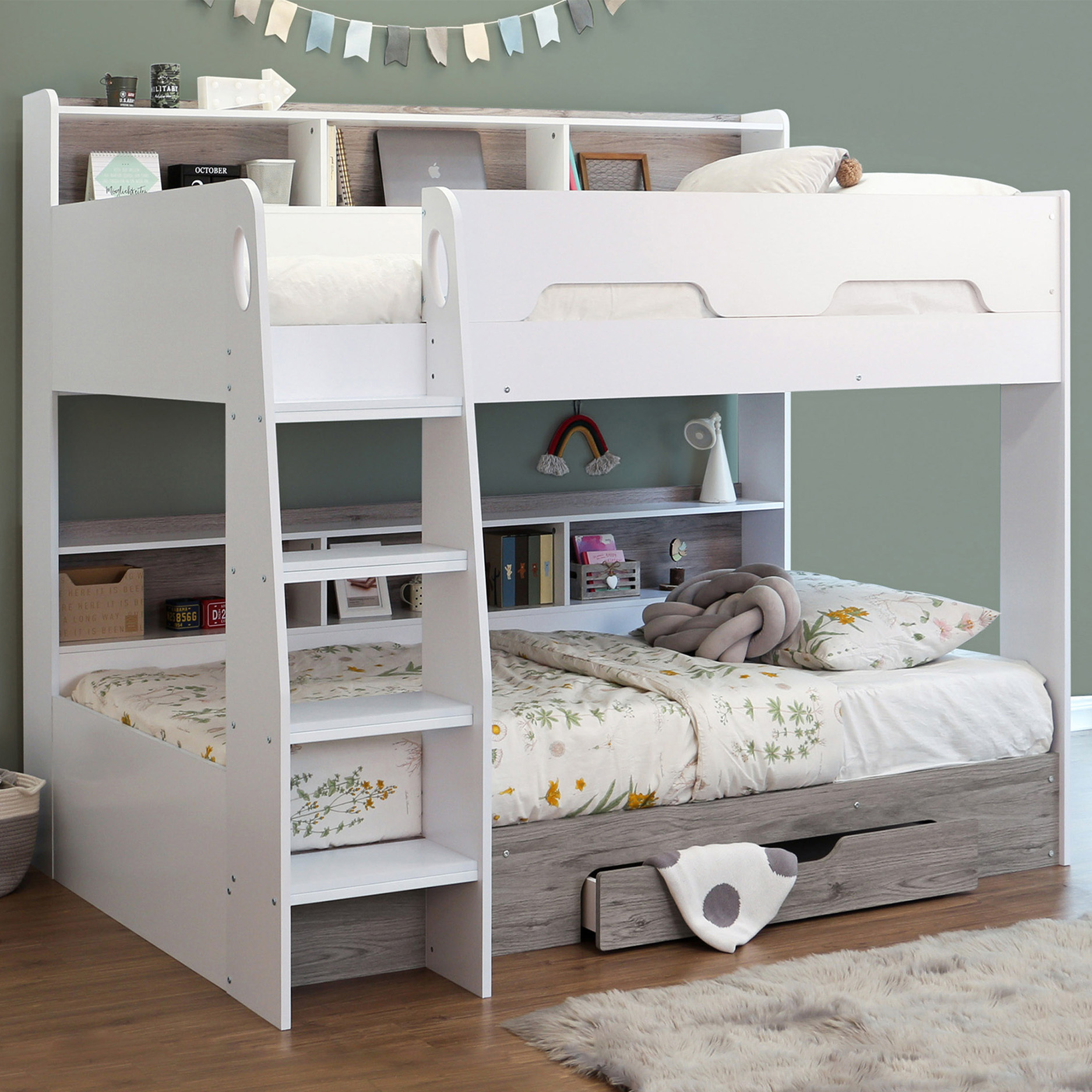 Picture of: Castles Single Library Bunk Storage Draw Out Of The Cot