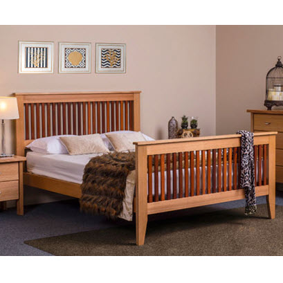 Shaker Bed With Jarrah Out Of The Cot