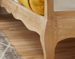 ONTARIO Solid Oak QUEEN Bed In Lime Wire Brushed Weathered Finish_18