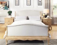 ONTARIO Solid Oak QUEEN Bed In Lime Wire Brushed Weathered Finish_3