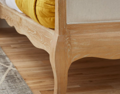 ONTARIO Solid Oak QUEEN Bed In Lime Wire Brushed Weathered Finish_8