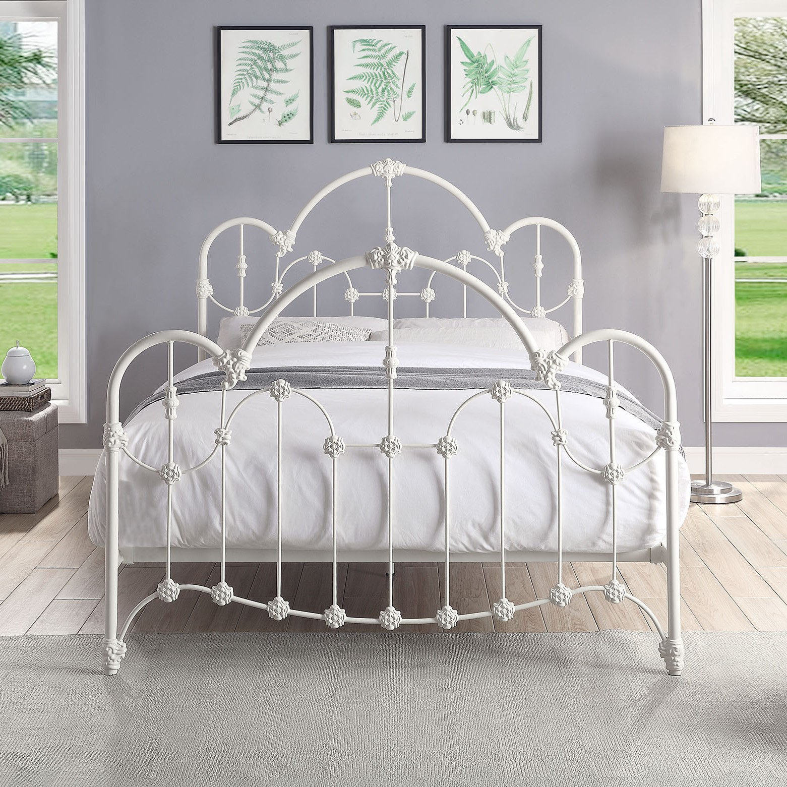Picture of: Normandy Queen Wrought Iron Bed Out Of The Cot