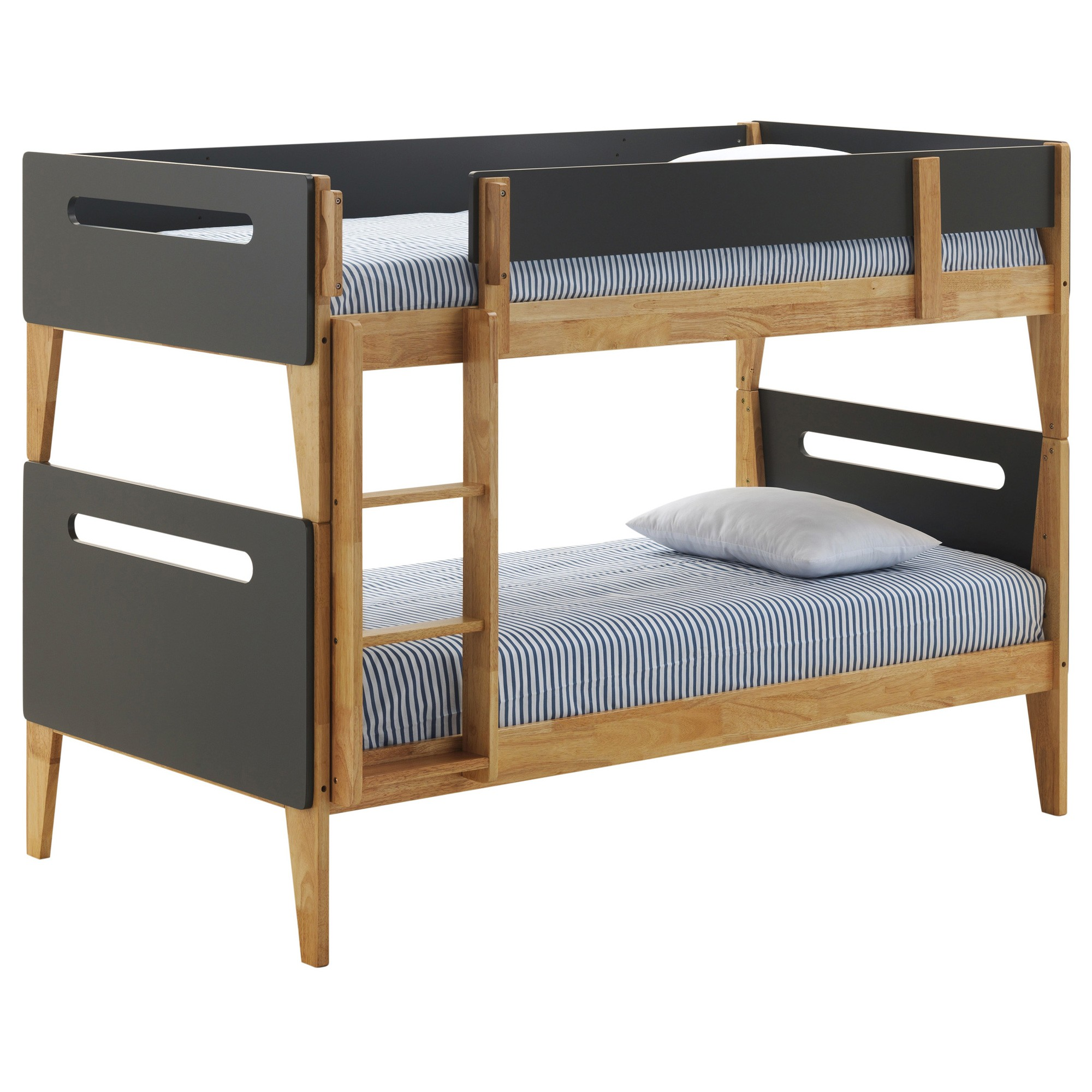 Picture of: Natural Charcoal Brooklyn Bunk Bed Out Of The Cot